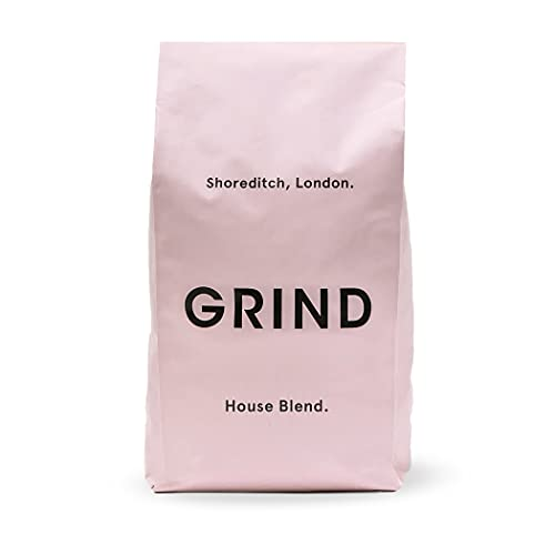 Grind - Coffee Whole Bean - 1kg Coffee Beans - House Blend Organic Coffee Beans - Instant Coffee Beans, Nutty & Chocolatey - Organic, Better Than Fairtrade & 100% Compostable