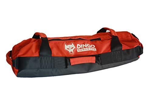 Dingo Sandbags Small with Tarpaulin Base Layer (Colour: Red Desert Sands/Black, Load Capacity 15-28lbs)