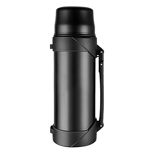 Simple Modern Sports - Botella de viaje de acero inoxidable + correa de hombro desmontable de boca ancha, aspiradora aislada a prueba de fugas, apta para camping al aire libre, 1200 ml