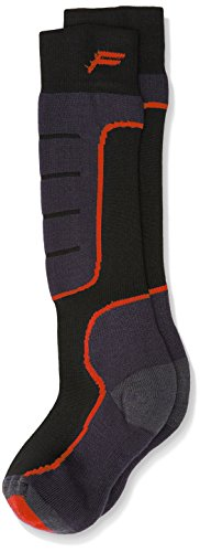 F Lite Kinder SKI SA 100 Kids Socken, Black/Red, 31-34