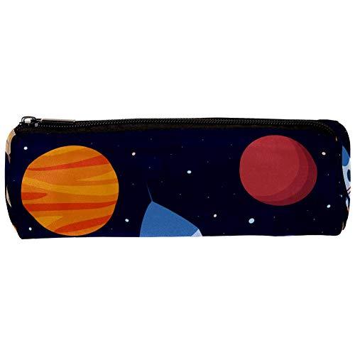TIZORAX - Estuche para raquetas, planetas, estrellas en el espacio, con cremallera, organizador de monedas, bolsa de maquillaje para mujeres, adolescentes, niñas, niños y niños