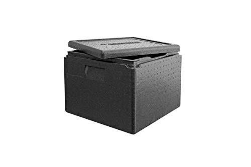 Transport-Box Premium Thermobox, Transportbox Warmhaltebox und Isolierbox mit Deckel, 32 Liter Boxer Transportbox,Thermobox aus EPP (expandiertes Polypropylen) Pizzabox
