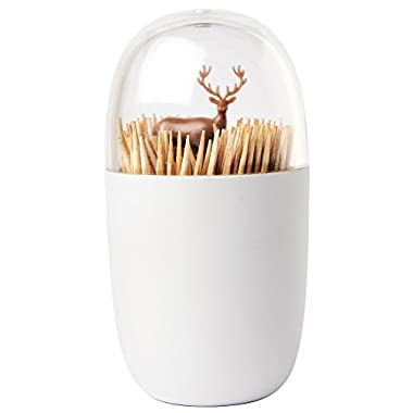 Deer Meadow Toothpick Holder by Qualy Design. Brown Color. Unique Home Design Decoration. Unusual Gift.