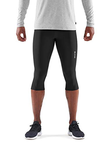 SKINS DNAmic Thermal Mens 3/4 Tights Black S 3/4 Tights Homme Black FR : S (Taille Fabricant : S)