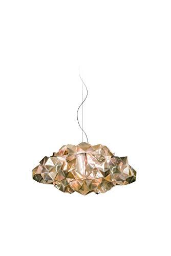 Slamp Kunststoff Hängeleuchte/Slamp-Leuchten Drusa in Velvet | Handgefertigt in Italien | Pendelleuchte Modern gold | Lampe E27