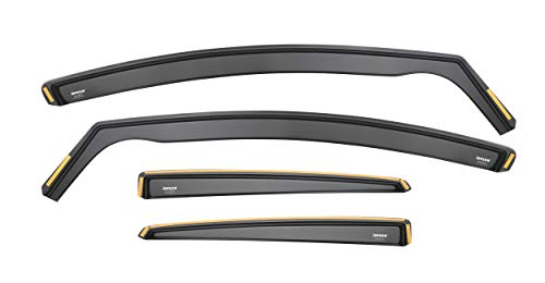Ispeed Wind Deflectors Compatible with FORD FOCUS MK3 Saloon Hatchback 2011-2017 5-Seater 4 5-Door 4-pc Tinted Wind Deflectors Sun Visors Rain Shield Wind Shield