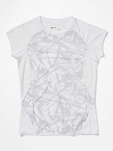 Marmot Damen T-Shirt Kurzarm, Funktionsshirt, Schnell Trocknend & Atmungsaktiv Wm's Crystal SS, White Race Line, XS, 46420