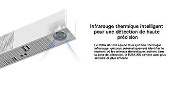 PURA AIR Purificateur d'air et Anti Odeur Désodorisant pour Litière Chat avec Détecteur Infrarouge Aucune Odeur (PURA AIR)