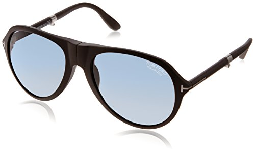 Tom Ford Sonnenbrille FT0381 5902V Gafas de sol, Negro (Schwarz), 59 para Hombre