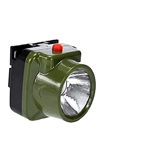Fangaichen Mini Lámpara de luz LED Recargable de Mini Lámpara de luz Elástica 1 W Enfoque en la Caza de Largo Alcance Faro de Pesca Linterna Potente para Deportes al Aire Libre. (Emitting Color : 1)