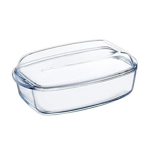 Pyrex 4937387 Essentials Glass rectangular Casserole high resistance 4,3L