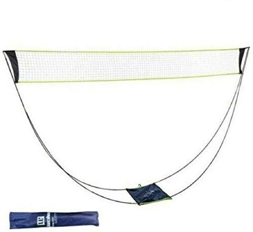 Tragbarer Tennisnetz Faltbar Badminton Netz mit Stand-Tragetasche,Badmintonnetz für Volleyball, Tennis, Indoor-Outdoor-Platz, Strandsport