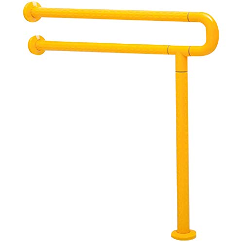 AQAWAS Toilettenstützgestell, Dusche Wc Griff Für ältere Adipositas Aus Edelstahl Wc-aufstehhilfe Toiletten Sicherheits Haltestange Aufstehhilfen Toiletten-aufstehhilfe,Yellow_60x70cm