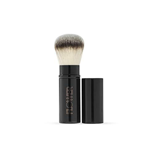 FLOWER BEAUTY Makeup Brushes | Retractable Brush, Black | Ultra-Soft Fine Hair for Powder, Blush or Bronzer | Washable Synthetic Fibers | 1 Piece
