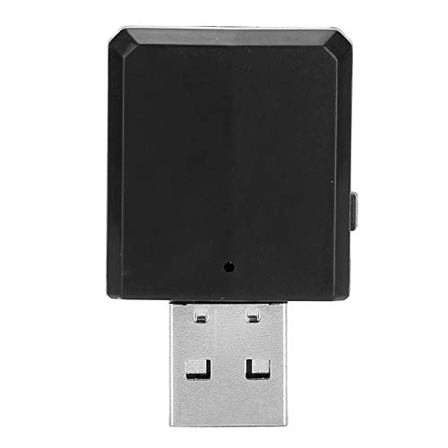 Demeras Adaptador de Receptor de Audio inalámbrico Salida AUX portátil ampliamente Utilizada para computadora portátil(Negro)