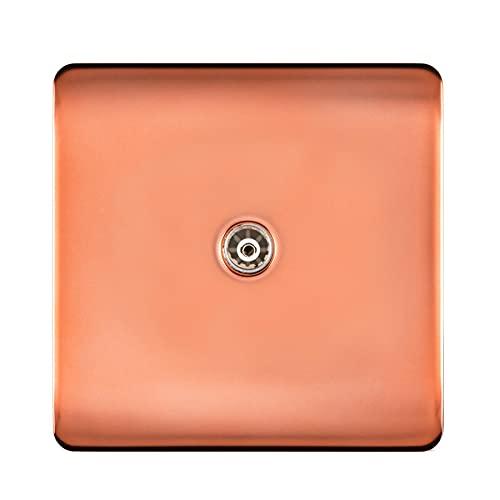 Trendi Copper Gama de interruptores y tomas de corriente (toma de TV)