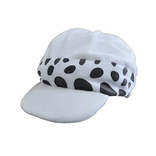 Polyer Sombrero de Cosplay de One Piece Trafalgar Law 1st / 2nd Cap Anime Hat Cosplay Disfraz Halloween Regalo para Hombres Mujeres