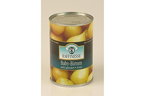Raffinesse Baby-Birnen, leicht gezuckert, 420g.