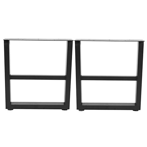 Lyrlody Set of 2 Iron Legs Metal Table Legs for Furniture with Foot Pads Furniture Legs Perfect for Coffee Table Dining Table Office Table Black (S)