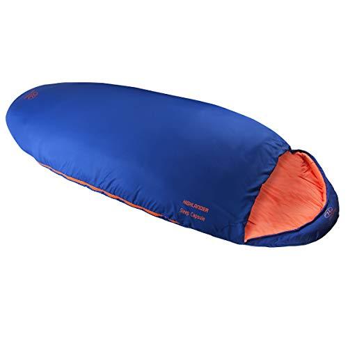 HIGHLANDER Sleep Capsule Sac de Couchage Mixte, Bleu, 230 x 80 x 50 cm