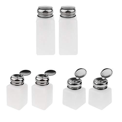 Homyl 6 Pcs 100/200 /250 ml Bouteille Dissolvant de vernis à ongles Flacon Liquide vide Flacon Pompe Distributeur Liquide pour Démaquillant