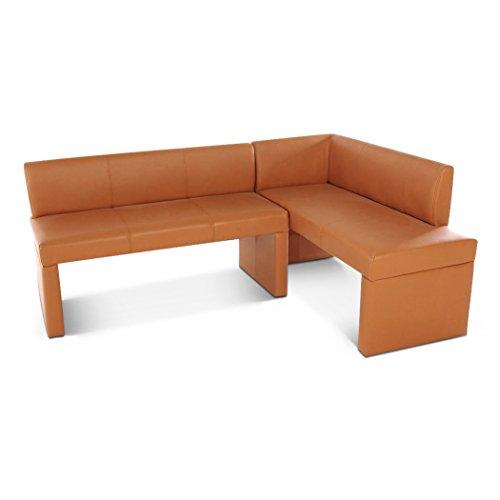 SAM Eckbank Metz II, Cappuccino, 180x130 cm, Sitzbank mit Rückenlehne