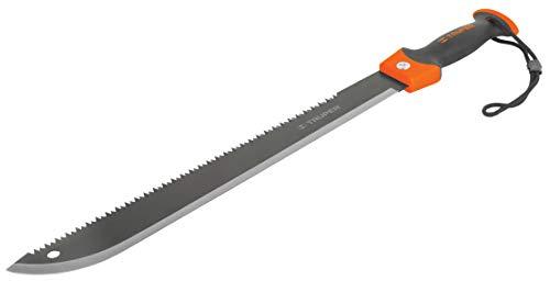 Willy's Fachmarkt Machete Messer Hackmesser Truper MACH-18 doppelschneidig mit Sägerücken Klinge 44 cm Camping zubehör, jagdmesser, buschmesser, haumesser, Machete Garten jagtmesser