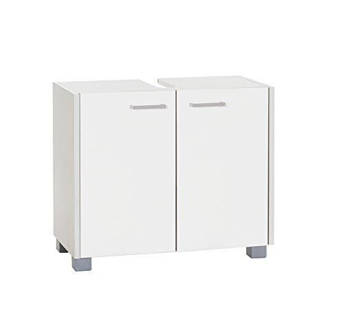 Schildmeyer Laif Waschbeckenunterschrank, Holz, Weiß, 30 x 59.7 x 50.9 cm