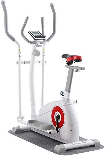 ER KANG Elliptical Machine Trainer - 8 Levels of Adjustable Resistance with Digital Monitor, Seat and Pulse Rate Grips Magnetic Smooth Quiet Driven Elliptical Exercise Machine for Home Gym