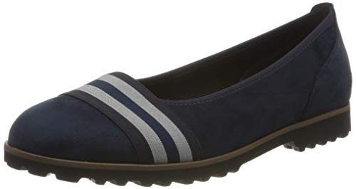 Gabor Shoes Gabor Casual, Ballerines Femme, Bleu (River Kombi(Cogn.) 48), 38.5 EU