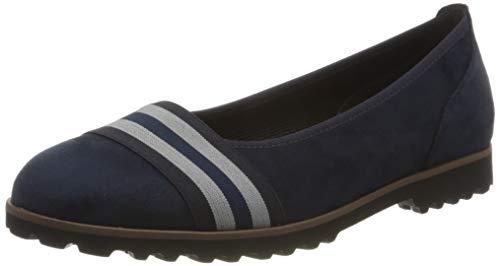 Gabor Shoes Damen Casual Geschlossene Ballerinas, Blau (River Kombi(Cogn.) 48), 41 EU