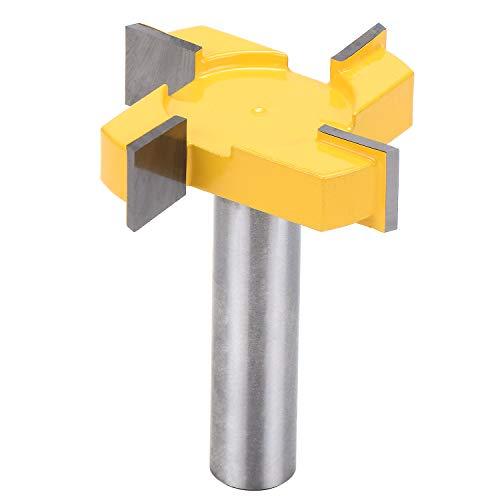 """WiMas Brocas de fresa estándar CNC para superficie de spoilboard, broca para enrutador de aplanamiento de losa de 1/2"""" broca de cepillado de vástago"""