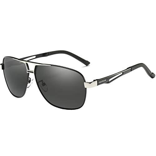 AORON Polarisierte Herren Sonnenbrille Polarisierte Outdoor Sportbrille 100{6376851f222ddf2d1b72e9e8c9ee313920b9a2881781b772afbfd05f2da225e1} UV400 Schutz Fahren Sonnenbrille (Schwarz)