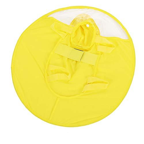 DNMD - Chubasquero para perro UFO Teddy ropa de cuatro patas impermeable para perro pequeño cachorro todo incluido perro poncho UFO chubasquero amarillo M busto 40-48 cm