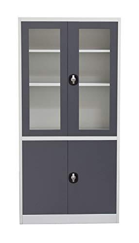 Diamond Sofa Home Furniture 4-Door 5-Shelf Bookcase With Tempered Glass Door...