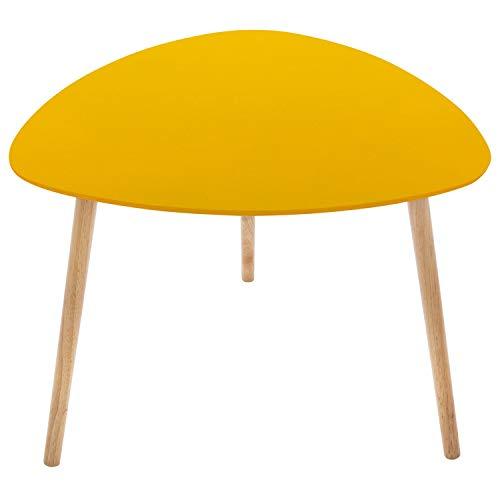 iDiffusion Mileo - Mesa auxiliar (60 x 45 cm), color amarillo mostaza.