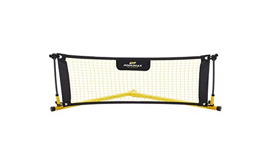 PodiuMax Solo Soccer Rebounder Net, Improve Your Ground Passing Skills, Easy to Assemble and Disassemble, Comes with Bag and Stake