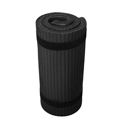Colchoneta de yoga Gimnasio para principiantes Fitness Colchonetas de gimnasia Cojín de colchón plegable Codo Estera deportiva Almohadillas de culturismo de interior 60x25x1cm-negro