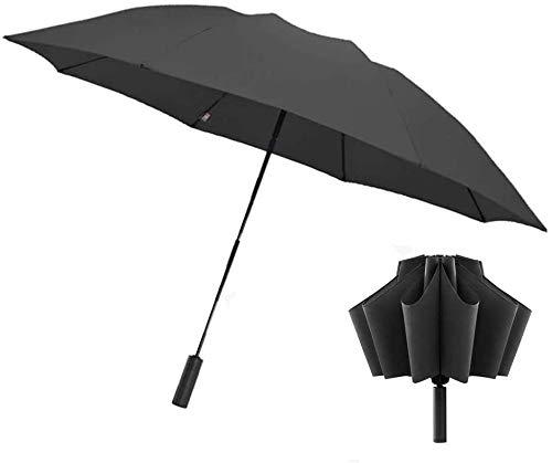 Dewanxin para 90fun Paraguas Plegable,Paraguas Apertura/Cierre Automático,Paraguas Invertido Secado Rápido con Linterna,Anti-UV Parasol,para Lluvioso o Soleado para un Adulto