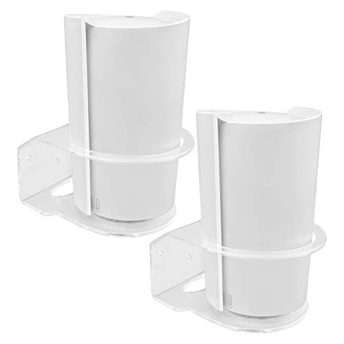 BECEMURU Wall Mount Stand Holder Stability Acrylic Protective Router Guard for Deco Tri-Band WiFi 6 Mesh System(Deco X90) (2 Pack)