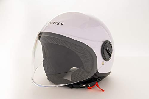 EXSENTIAL Demi Jet EX 631 VL - Casco para scooter o moto, color blanco brillante