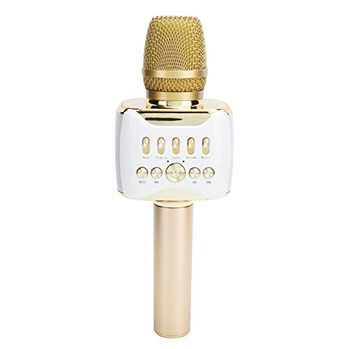 Estink Karaoke-Funkmikrofon, Bluetooth-Kondensatormikrofon, 2-in-1-Handmikrofon mit mobiler Spule, 3D-Surround-Sound, geeignet für Partys, Unterhaltung, Webcast