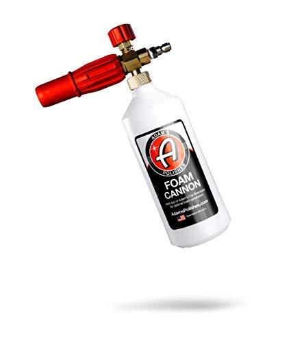 Adam's Foam Cannon - Sudsy Car Wash & Car Detailing Pressure Washer Tool | Use W/Car Wash Soap & Car Cleaning Wash Brush | Build Car Cleaning Kit W/Car Wax Clay Bar Ceramic Coating Wheel Cleaner