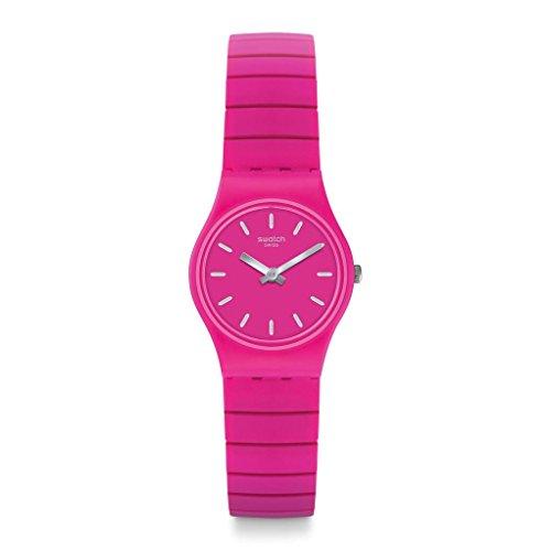 Swatch Originals flexipink rosa con caja de acero inoxidable reloj de pulsera para mujer lp149b