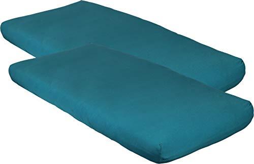 Blush & Blossom Jersey Kinderbett Spannlaken 40 x 80 mit Gummiband pro 2 Stück...
