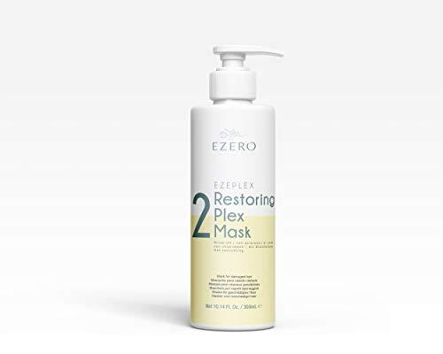 EZERO Masque Plex pour cheveux abîmés ou secs avec acides aminés et protéines de blé, acide hyaluronique, beurre de karité et huile d'argan - Produit végétal