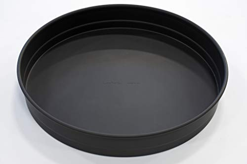 LloydPans 14x225 PreSeasoned PSTK SelfStacking Deep Dish Pizza Pans Dark Gray