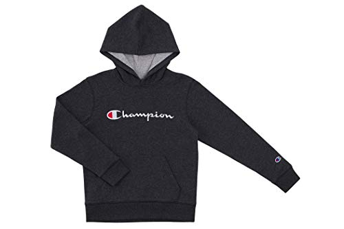 Champion Kids Clothes Sweatshirts Youth Heritage Fleece Pull On Hoody Sweatshirt with Hood  (Large, Heritage Granite Heather)