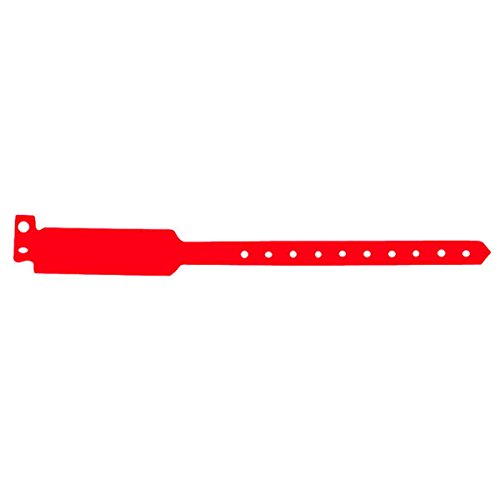 braccialetti rossi Braccialetti Non Trasferibili 25 Cm Rosso Pvc - 100 Unità