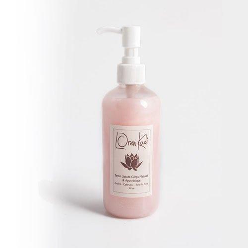 Loren kadi - Savon Liquide -Hydratant, Apaisant - Naturel, Ayurvédique - Avoine, Calendula, Bois de Rose - 300 ml